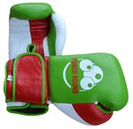 Punch Round™ Champion Bokshandschoenen Leder Green Red White