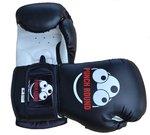 Punch Round Muay Thai Bokshandschoenen Sparring Zwart