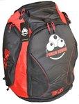 Punch Round™ Boxing Sporttas Rugtas Gym Bag Black Red
