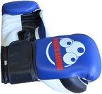 Punch Round™ Strike Bokshandschoenen Leder Blauw Zwart Wit