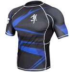 Metaru 47™ Rashguard Hayabusa® Short Sleeve Black Red