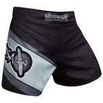 Hayabusa Muay Thai Kickboxing Shorts Black Grey Kickboks Broekjes