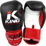 King Pro Boxing Gloves Kickboks Bokshandschoenen KPB/BG 1 Black Red