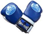 Punch Round™Carbonix Kickboks Handschoenen Blue White