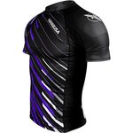Hayabusa Metaru Charged Rash Guard S/S Black Purple BJJ Shop