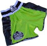 Punch Round Carbon Neon Green Muay Thai Kickboks Broekjes