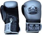 Punch Round Combat Sports Kickbokshandschoenen Zilver Zwart