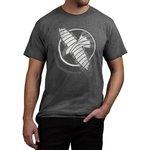 Hayabusa Logo T Shirt Grijs Wit Vechtsport Kleding