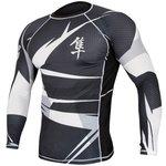 Metaru 47™ Rashguard Hayabusa® Long Sleeve Black White