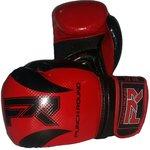 Punch Round Bokshandschoenen SLAM Carbon LookRoodZwart