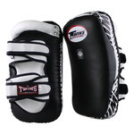 Twins Curved Arm Pads Kick Pads TKP 5 Leather Black White