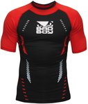 Bad Boy Sphere Compression Top Rash Guard S/S Black Red