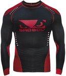 Bad Boy Sphere Compression Top Rash Guard L/S Black Red