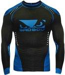 Bad Boy Sphere Compression Top Rash Guard L/S Black Blue