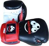 Punch Round Muay Thai Bokshandschoenen Sparring Zwart Rood