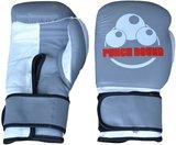 Punch Round™ Strike Bokshandschoenen Leder Grijs Wit