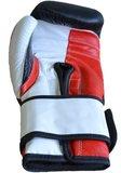 Punch Round™ Strike Bokshandschoenen Leder Zwart Rood Wit
