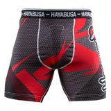 Hayabusa Metaru 47 Silver Compression Shorts Red