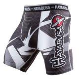Hayabusa Metaru 47 Silver Compression Shorts White