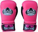 Dames Kickboks Handschoenen Roze Pink Punch Round Combat Sports