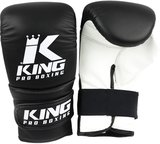 King Pro Boxing KPB/BM Bokszak Training Handschoenen Black White Leder 1