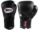 Twins Bokshandschoenen BGVL-6 Black Deluxe Sparring Gloves