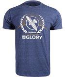 Hayabusa GLORY Kickboxing T Shirt Blauw Kickback Kleding