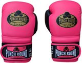 Dames Kickboks Handschoenen Pink Gold Punch Round Combat Sports