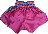 Punch Round Thaiboks Broekje Flower Kickboxing Shorts Pink MT11