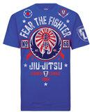 Fear the Fighter Jiu Jitsu T Shirts Blue