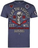 Fear the Fighter Boxing Club T Shirts Blue