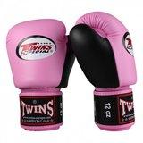 Dames Kickboks Bokshandschoenen Twins BGVL 3 Pink Black Leder