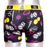 Freegun Underwear Men Original Boxershorts Lucky Black Yellow