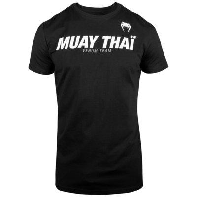 Venum MUAY THAIVT T-shirts Zwart Wit - Kickboks Kleding