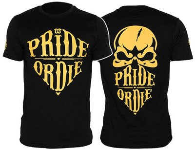 Pride or Die Reckless T Shirt Black Yellow