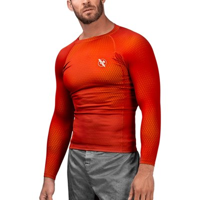 Hayabusa Fusion Rash Guard Long Sleeves Rood Geel
