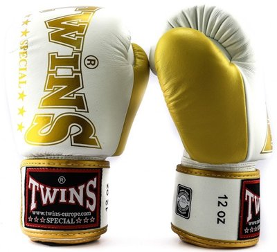 Twins Bokshandschoenen BGVL 8 Wit Goud Boxing Gloves