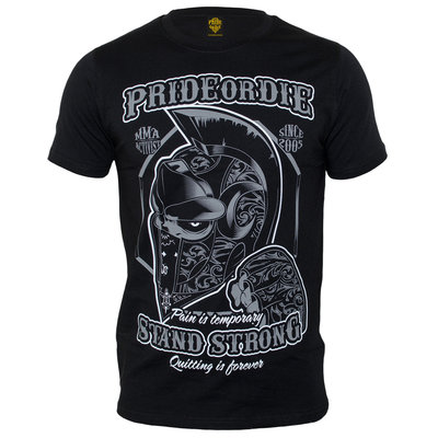Pride or Die Stand Strong T Shirt Black MMA Kleding