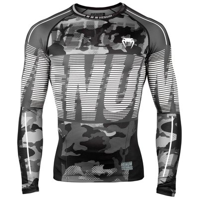Venum Tactical Rash Guard L/S Compressie Shirt Urban Camo Zwart