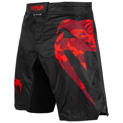Venum Fight Shorts Light 3.0 Zwart Rood Camo