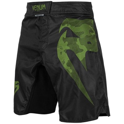 Venum Fight Shorts Light 3.0 Zwart Groen Camo