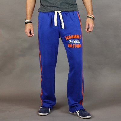 SCRAMBLE Relax A Tron Jogging Broek Bottoms Royal Blue Oange