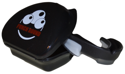 PUNCH ROUND® Ready for the Fight Mouth Guard Mond Bitje Black White