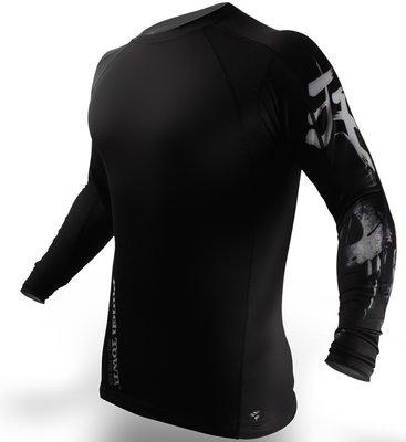 PunchTown Rash Guard Deranged Black Long Sleeve