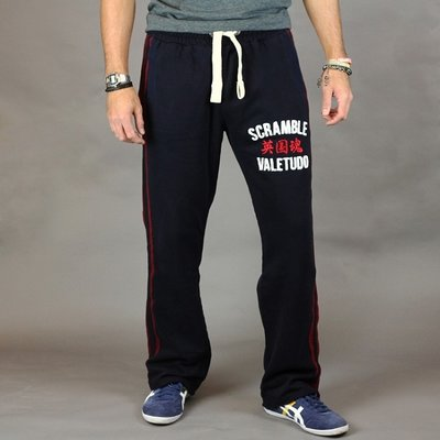 SCRAMBLE Relax A Tron Jogging Broek Bottoms Navy Blue