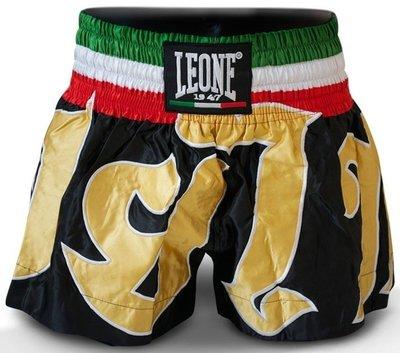 Leone Kick Thai Boxing Shorts Black Gold AB742