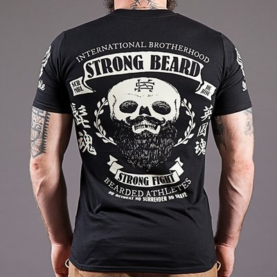 SCRAMBLE Strong Beard Strong Fight BJJ MMA T Shirt