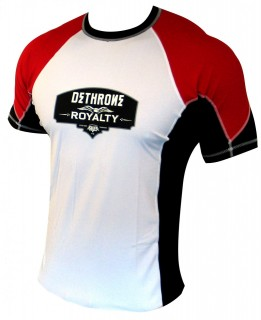 Dethrone Royalty Rash guard Red White size XL