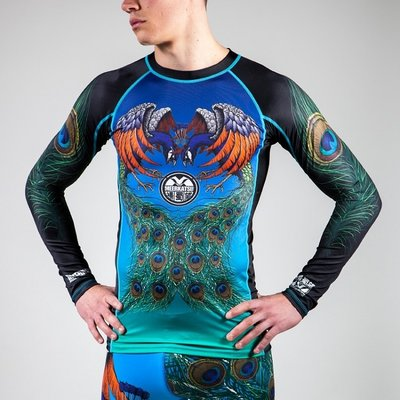 Meerkatsu Rash Guard Flying Peacock Rashguard