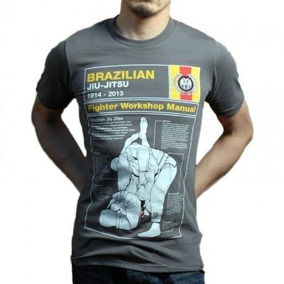 Meerkatsu The Manual BJJ T Shirts Grey